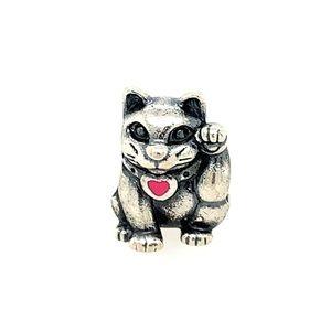 Pre❤️ Pandora Waving Hand cat charm